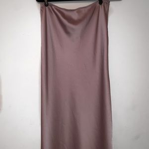 Mauve Satin Topshop Skirt